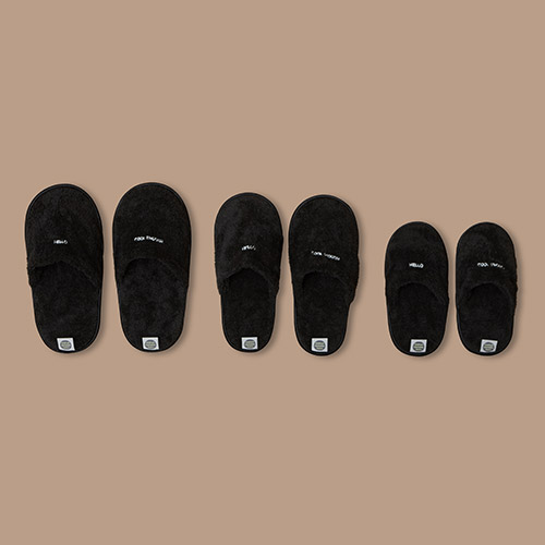 [COOL]THE TOWEL SLIPPERS_BLACK